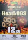 12 pack Premium Wooden Heat Logs Fuel Firewood, Open Fires, Stoves Burner Eco