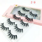 5Pairs 3D Natural False Eyelashes Long Thick Fake Eye Lashes Makeup Mink
