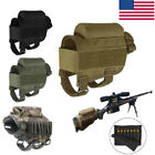Airsoft Buttstock Ammo Pouch Cheek Rest 7 Round Shell Holder Carrier US