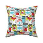 1990S Retro Abstract 90S Pop Throw Pillow Cover w Optional Insert by Roostery