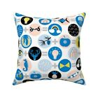 Geometric Mathematic Sciences Throw Pillow Cover w Optional Insert by Roostery
