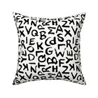 Letters Abc Back To School Throw Pillow Cover w Optional Insert by Roostery