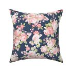 Watercolor Flower Nursery Throw Pillow Cover w Optional Insert by Roostery