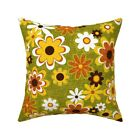 Retro Summer Flower Disco Power Throw Pillow Cover w Optional Insert by Roostery
