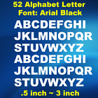 2 Set Alphabet Letter Decals Sticker Window Door Wall Car Decal Font Arial Black
