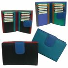 Ladies Leather Flap Over Multi-Section Purse/Wallet by Golunski Colourful image