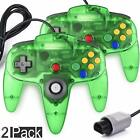 2 Pack N64 Controller lot Classic Gamepad Joystick for Nintendo 64 Game Console