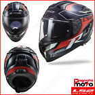 CASCO INTEGRALE DOPPIA VISIERA FULL FACE LS2 CHALLENGER CARBON FF327 C GRID BLUE