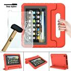 "EVA Handle Kids Stand Cover Case + Screen Protector For Amazon Fire 7"" 8"" Tablet"