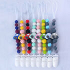 Silicone Baby Car Teething Soother Beads Dummy Clip Pacifier Chain Chew Toy