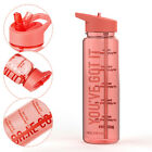 Plastic 100% Bpa Free Leakproof Sports Portable Drink Water Bottle With Straw