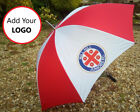 Promotional Golf umbrella Printed Logo Personalised Branded Print - Red