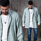 NewStylish Mens Pigment loose fit button up shirts