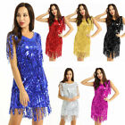 Adult Women Sequin Tassels Latin Costumes Dress Ballroom Samba Tango Skirt Dress