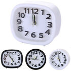 Square Round Quartz Alarm Clock Analogue Desk Silent Night Snooze Battery Clocks