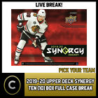 2019-20 UPPER DECK SYNERGY HOCKEY 10 BOX FULL CASE BREAK #H614 - PICK YOUR TEAM $46.0 CAD on eBay