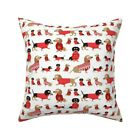 Holiday Dachshund Doxie Dog Throw Pillow Cover w Optional Insert by Roostery