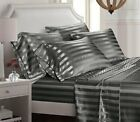 Egyptian Comfort 1800 Count 6 Piece Bed Sheet Set Deep Pocket Bed Sheets, Stripe image