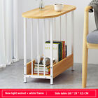Small Side End Table Desk Oavl Top/Laptop/Sofa End Side/Coffe Table White/Walnut
