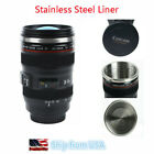 Camera Lens Coffee Mug Cup Tea Travel Photo Funny DSLR Stainless Steel Thermos image