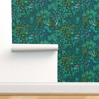 Wallpaper Roll Mystical Forest Magical Emerald Fairy Woodland 24in x 27ft