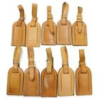 Louis Vuitton Name Tag Set of 10 Smaller Name Tags Light Brown Leather 184772