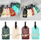 Внешний вид - Label Letter Aircraft Portable Baggage Holder Luggage Tag PU Leather Travel Tag
