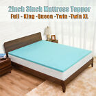Cooling Gel Memory Foam Bed Mattress Pad Cover Topper Queen King Full Twin XL~ image