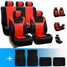 Racing PU Leather Low Back Car Seat Cover & Carpet Floor Mats $73.99 USD on eBay