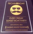 PUKKA UP & OTHER BOAT PARTIES & SWAG CLUB IBIZA CLUB POSTERS 2014 / 2015 / 2016