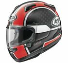 New Arai Quantum-X Take Off Red Full Face Motorcycle Helmet XS-2X