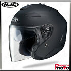 CASCO JET OPEN FACE DOPPIA VISIERA HJC IS-33 II SEMI FLAT BLACK NERO