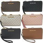 Michael Kors MK Jet Set Travel Double Zip Phone Wristlet Wallet