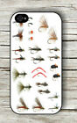 FISHING FLIES COLLECTION CASE FOR iPHONE 4 , 5 , 5c , 6 -ysk9X