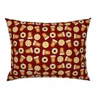 Pumpkin Spice Cafe Latte Coffee Pumpkin Spice Donut Pillow Sham by Roostery image