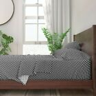 Black And White Checks Checkered 100% Cotton Sateen Sheet Set by Roostery
