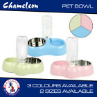 Twin Bowl with Water Feed for Dog, Puppy, Cat Wet & Dry Feeding Food Bowl Stand