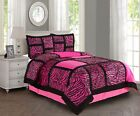 New Empire Home Pink Safari Damask 4-Piece Comforter Set Bed In A Bag Sale! image