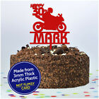 PERSONALISED Motorbike Cake Topper - Biker Birthday Cake Decoration ANY NAME AGE