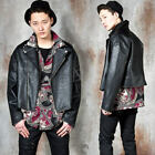NewStylish mens Crop rider leather jacket