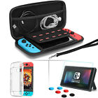 Nintendo Switch Accessories Bundle-Portable Hard Bag+Soft TPU Case+Glass+Grips