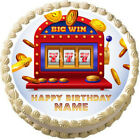SLOT MACHINE Casino Edible cake topper image Party