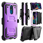 For LG Neon Plus (AT&T) Phone Case Shockproof Belt Clip Kickstand Bumper Cover