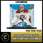 2019-20 UPPER DECK ICE HOCKEY 4 BOX (HALF CASE) BREAK #H661 - PICK YOUR TEAM $13.0 CAD on eBay
