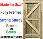 "Garden Gate Bespoke Treated Closeboard Featherboard Featheredge ""made To Size"""