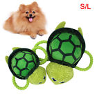FM_ Pet Puppy Sea Turtle Shape Plush Doll Cotton Rope Squeaky Bite Play Toy Late