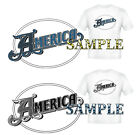 America (Rock Band) T-Shirt : In Blue or Clear image