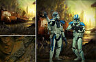 POSTER BACKDROP SHIPS ROLLED~STAR WARS~CLONE WARS FOR 1/6 HOT TOYS FIGURES FIVES $44.99 USD on eBay
