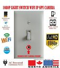 1080P Hidden WIFI IP Camera Night Vision Working Light Switch With Motion Detect
