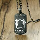 Vnox In the Darkest Hour When Demons Come Brothers Dog Tags for M